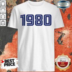 Perfect Personalised Year 1980 Shirt