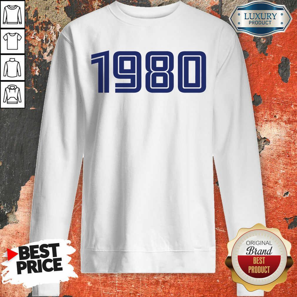 Perfect Personalised Year 1980 Sweatshirt