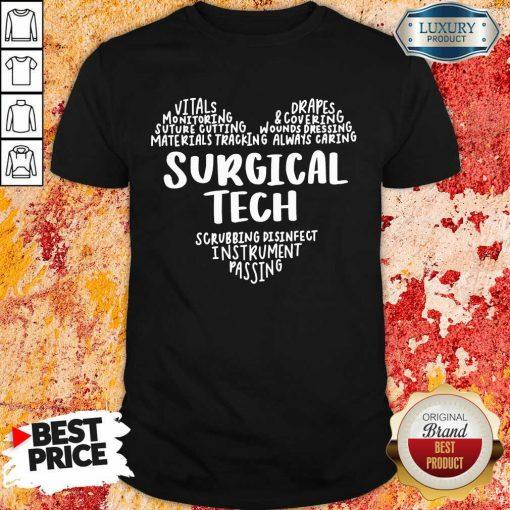Perfect Surgical Tech Heart Word Shirt