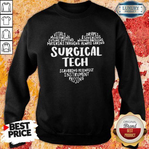 Perfect Surgical Tech Heart Word Sweatshirt