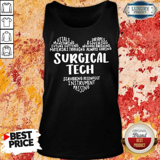 Perfect Surgical Tech Heart Word Tank Top