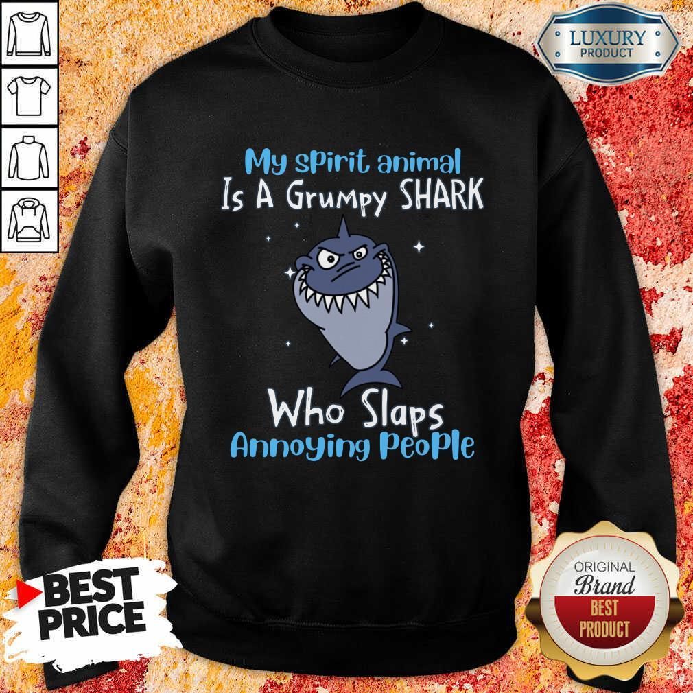 Top My Spirit Animal Is A Grumpy Shark Sweatshirt