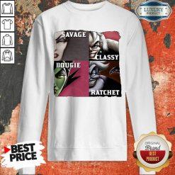 Top Savage Sassy Bougie Rachet Sweatshirt