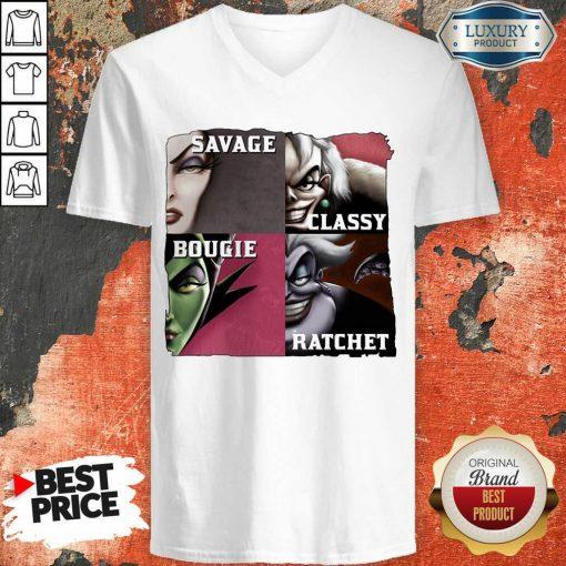 Top Savage Sassy Bougie Rachet V-neck