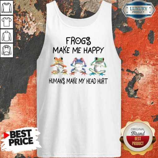 Frogs Make Me Happy Tank Top