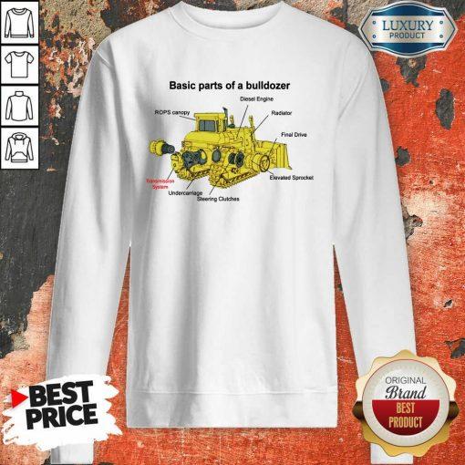 Hot Bulldozer Anatomy Sweatshirt