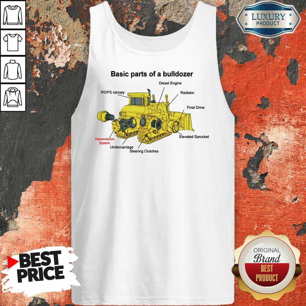 Hot Bulldozer Anatomy Tank Top
