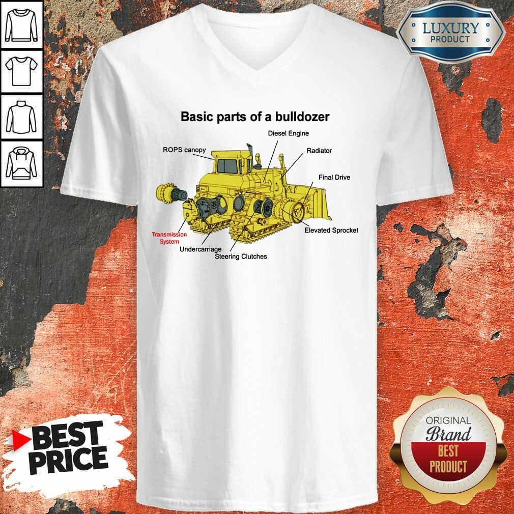 Hot Bulldozer Anatomy V-neck