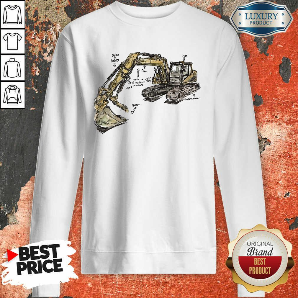 Hot Excavator Anatomy Sweatshirt