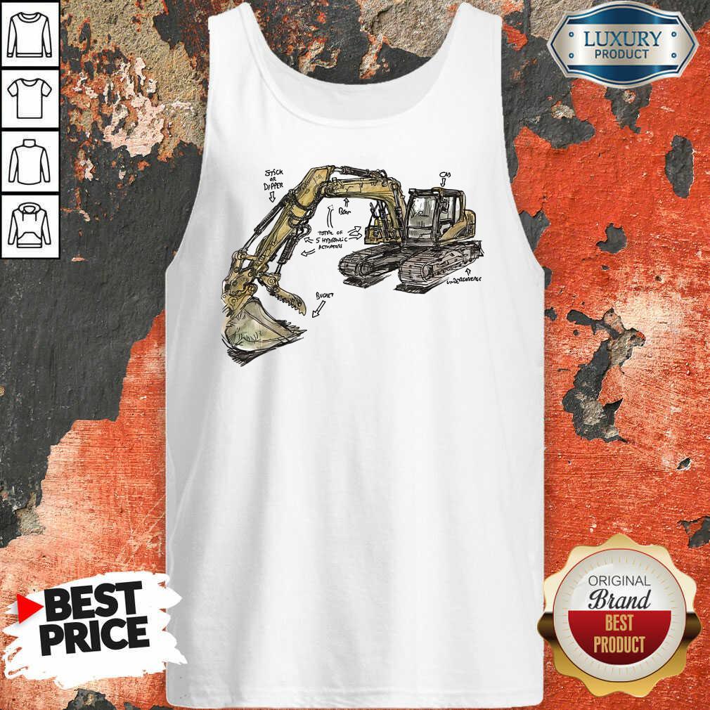 Hot Excavator Anatomy Tank Top