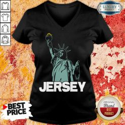 Top New Jersey Statue Of Liberty V-neck
