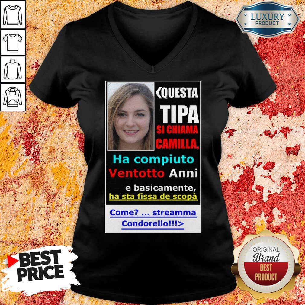 Top Questa Tipa Si Chiama Camilla V-neck