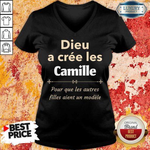 Vip Dieu A Cree Les Camille V-neck