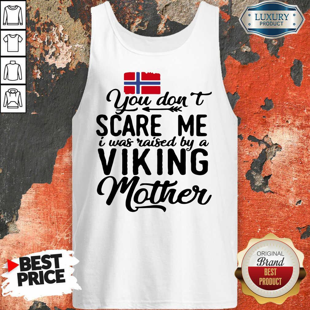Vip Norwegian Flag Scare Me Viking Mother Tank Top