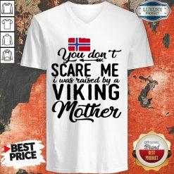 Vip Norwegian Flag Scare Me Viking Mother V-neck